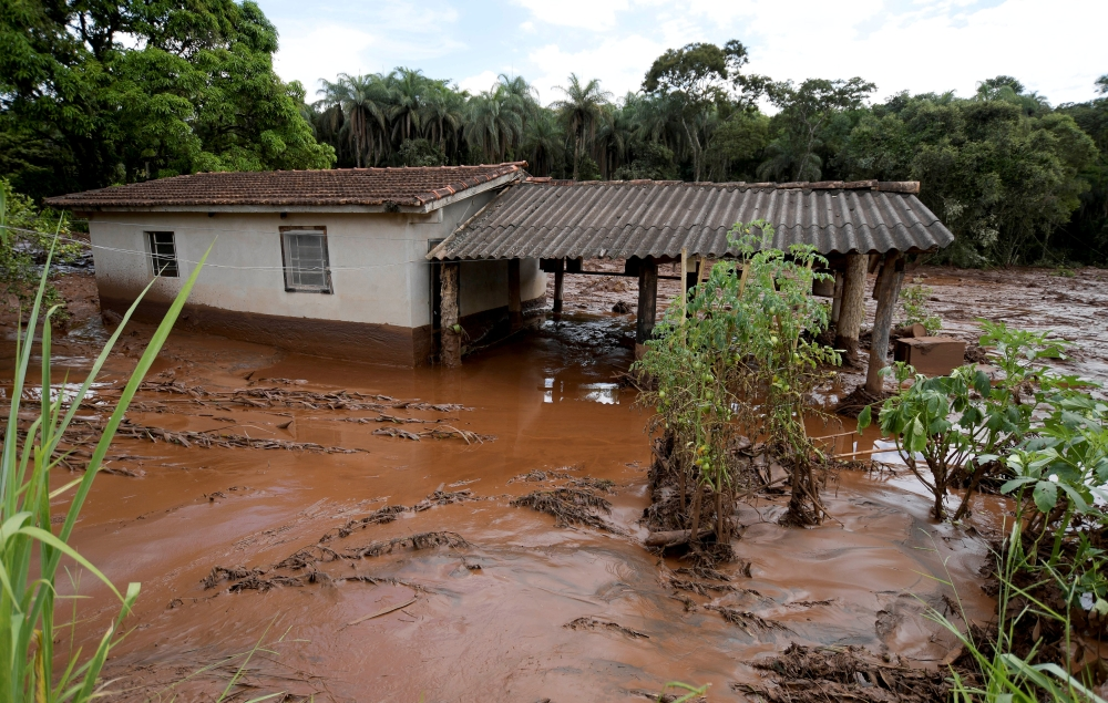 FILE PHOTO: A house is seen after a dam, owned by Brazilian miner Vale SA, burst in Brumadinho