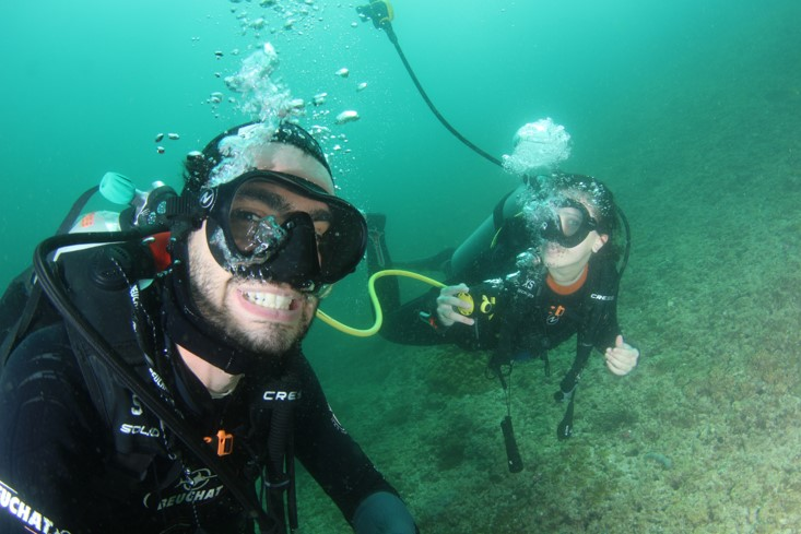 Divemasters Micheal from Italy and Anzhelika, Ukraine (1)